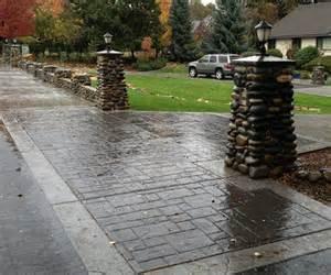 Stamped Concrete Driveway