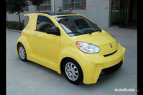 chinese automaker builds solar powered scion iq  alike