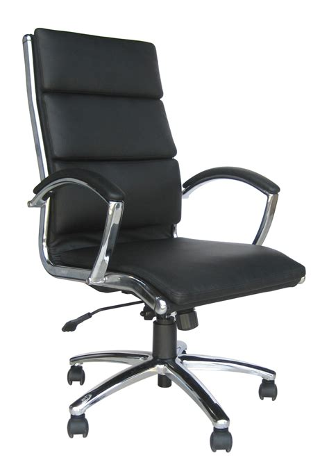 classic leather high back office chair choice of colours