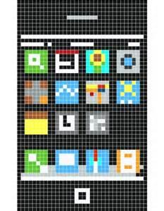 Minecraft iPhone Pixel Art