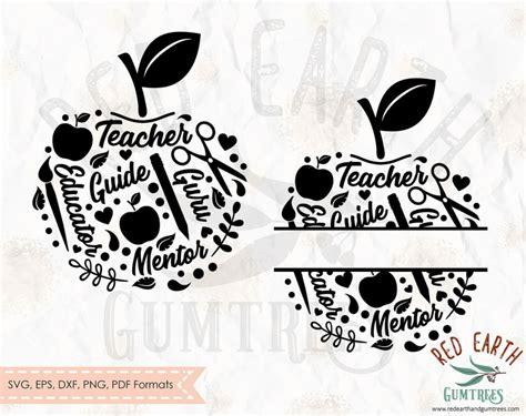 school split monogram apple frame teacher split monogram frame apple scissors