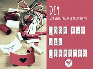 Diy Geschenke Für Den Freund : diy lose f r die liebsten valentinstag pinterest geschenke valentinstag und ~ Frokenaadalensverden.com Haus und Dekorationen