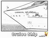 Cruise Coloring Ship Pages Carnival Splendor Ships Colouring Boys Yescoloring Cruises Stupendous sketch template