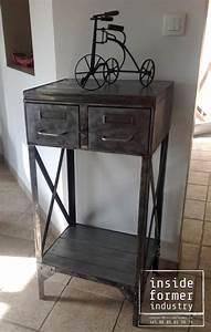 Meuble Industriel Vintage : meubles industriels nantes meubles de style industriel sur mesure acier bois loft vintage ~ Teatrodelosmanantiales.com Idées de Décoration