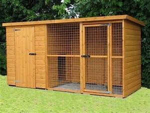 Designs for big dog houses dog kennel and run dog for Dog kennels and runs for sale