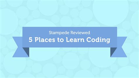 5 Places To Learn Coding