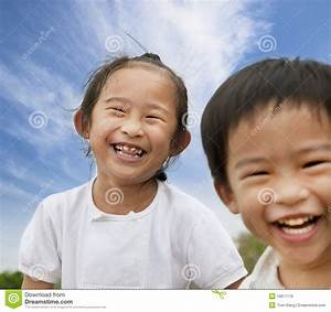 Happy asian kids stock photo. Image of people, asian ...