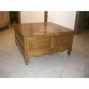 Table Salon Carrée : table de salon carr e en bois meubles jamet ~ Teatrodelosmanantiales.com Idées de Décoration
