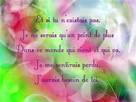 Joe Dassin  Et Si Tu N'existais Pas + Paroles Lyrics