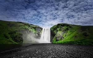 Skogafoss, Waterfall, On, The, Sk, U00f3g, U00e1, River, In, Iceland, Nature