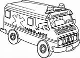 Ambulance Coloring Transportation Printable Gambar Template sketch template