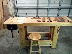 My Workbench Build - Hand Tools Only - Create Your Free
