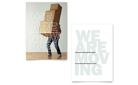 moving announcement template design