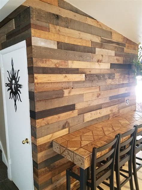 pre stained pallet wood accent walls utah   wood