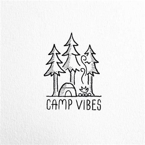 camp vibes camping en  easy drawings cool