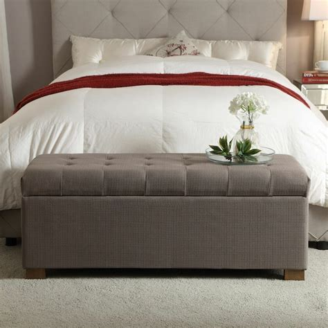Bed Bench With Storage by Homepop Large Tufted Storage Bench Accent Bed Room Living