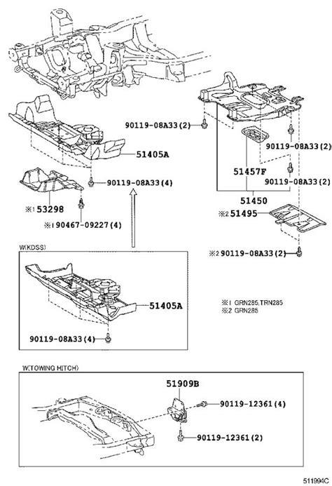 Toyota 4Runner Radiator Support Splash Shield. Cover
