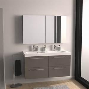 Meuble Salle De Bain Taupe : photo meuble haut salle de bain taupe ~ Dailycaller-alerts.com Idées de Décoration