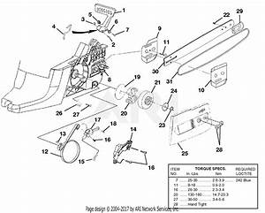 Homelite Ut10530a 16in  33cc Chain Saw Parts Diagram For