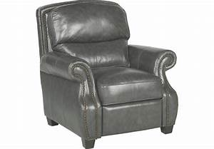 Frankford Charcoal Leather Recliner - Leather Recliners (Gray)