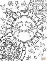 Zodiac Coloring Sign Cancer Pages Signs Printable Adult Aries Star Sheets Signos Adults Mandala Gemini Animals Mandalas Drawing Para sketch template