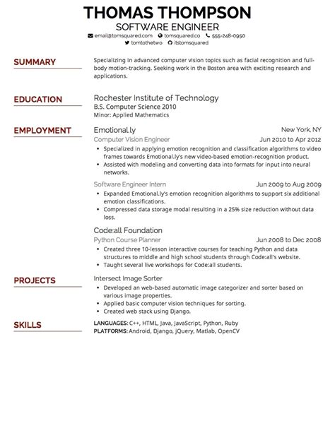 font size for resume the best letter sle