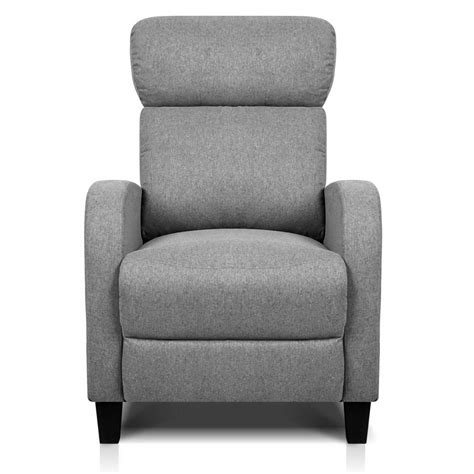 Fabric Armchair by Linen Fabric Armchair Recliner Grey
