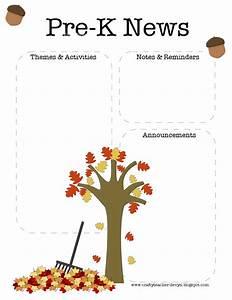 Pre K Fall Newsletter Template The Crafty Teacher
