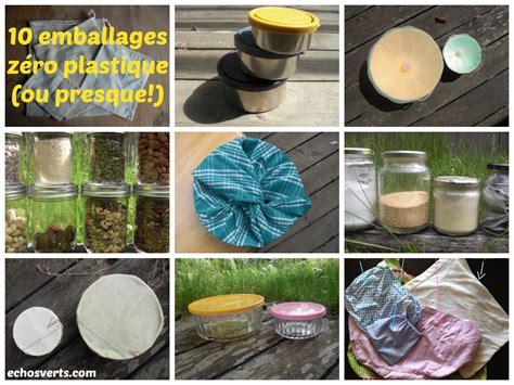 10 alternatives aux emballages plastiques alimentaires