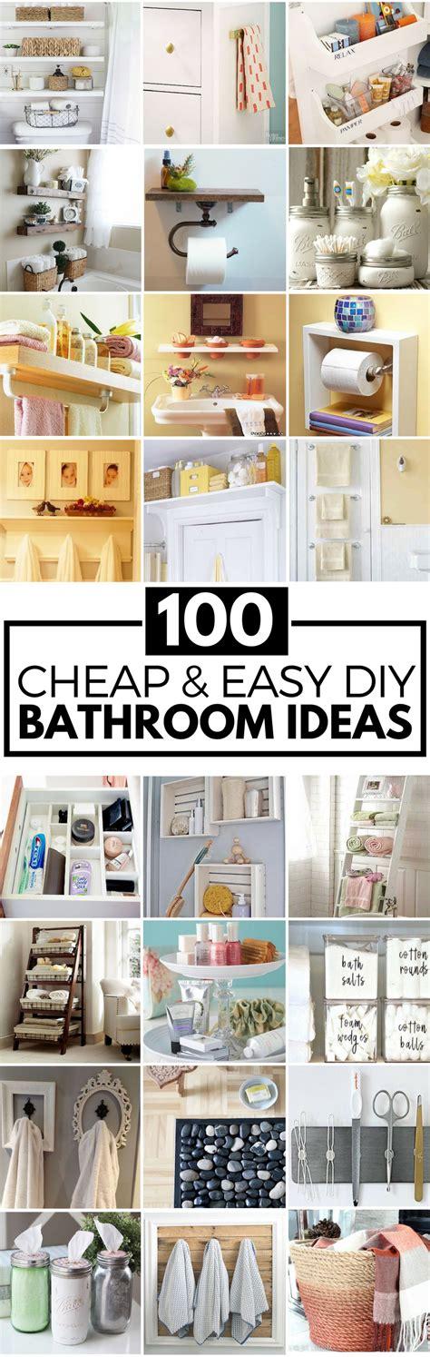 cheap bathroom ideas for small bathrooms 100 cheap and easy diy bathroom ideas prudent pincher