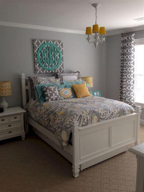 visually pleasant yellow  grey bedroom designs ideas