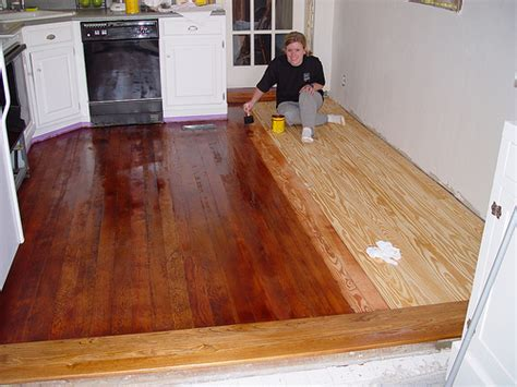 Applying Stain And Polyurethane To Hardwood Floors by Best Method For Treating A Butcher Block Counter Top