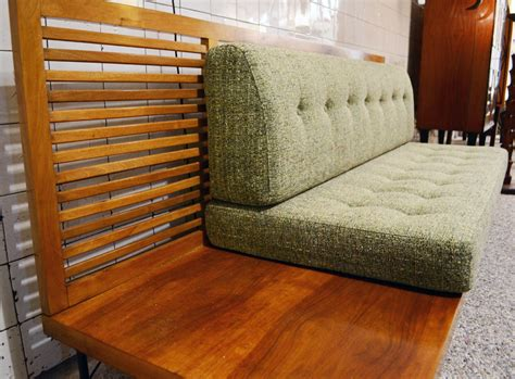 50's Sofa With Corner Table Included