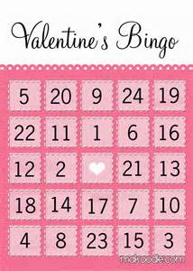 Free Printable Valentine Bingo Cards