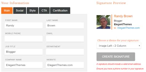 Professional Layout Generator by How To Write A Professional Email Signature That Converts