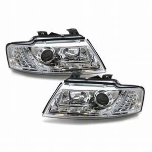 A4 B5 Scheinwerfer : drlook2 led tagfahrlicht optik scheinwerfer chrom f r audi ~ Kayakingforconservation.com Haus und Dekorationen