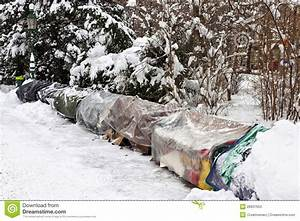 Roost Of Homeless People In Winter Stock Photo - Image ...