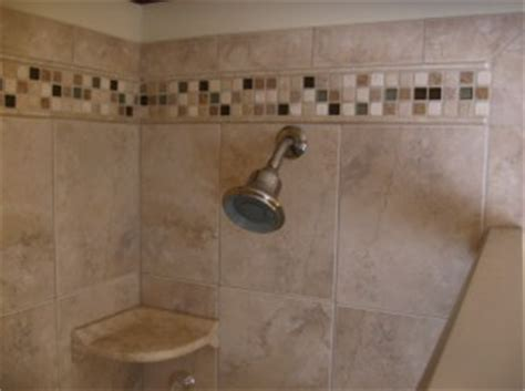 porcelain shower with mosaic accents tile contractor