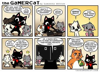 Comics Gamercat Cat Sunday Gamer Comic Funny