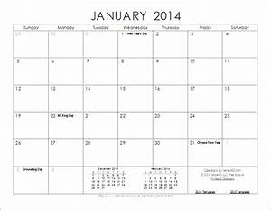 2014 calendar templates and images monthly and yearly With 2014 full year calendar template