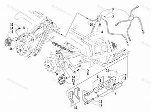 Arctic Cat Atv 2005 Oem Parts Diagram For Hydraulic Brake