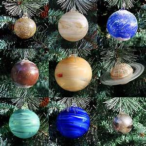 Blown Glass Solar System Christmas Ornament Set + Sun ...