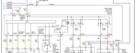 power window wiring schematic