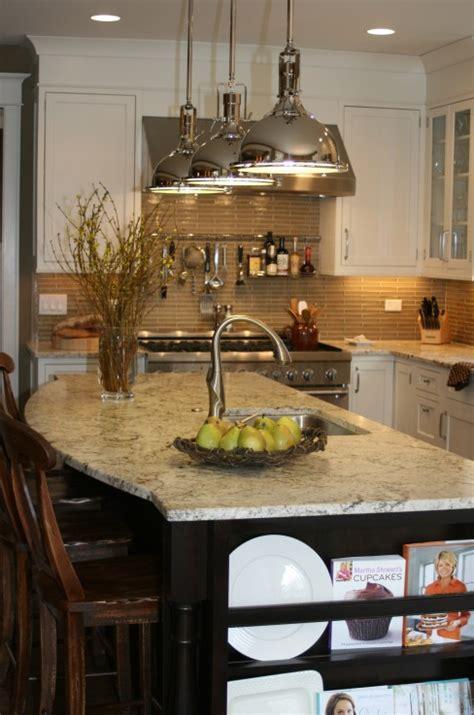 curved kitchen island transitional kitchen kitchen studio  glen ellyn