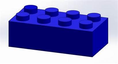 Lego Brick 2x4 Clipart 3d Bricks Blocks