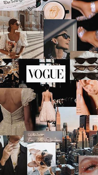 Collage Aesthetic Vogue Dark Wallpapers Edgy Iphone