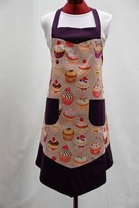 Tablier De Cuisine Femme : apron of cooking kitchen woman hand made unique only cup cake tablier de cuisine femmes ~ Teatrodelosmanantiales.com Idées de Décoration