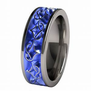 Mens Blue Titanium Wedding Bands Wedding And Bridal