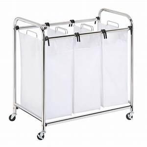 Honey-Can-Do Heavy Duty Triple Laundry Sorter-SRT-01235 ...
