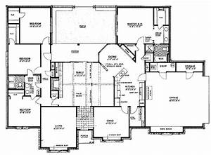 4 Bedroom Ranch House Plans 4 Bedroom 3 Bath 1 Story House ...